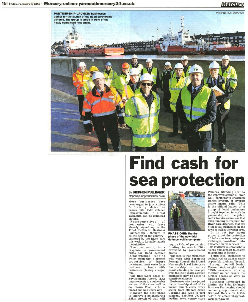 Tidal Defences Business Partnership Official Launch